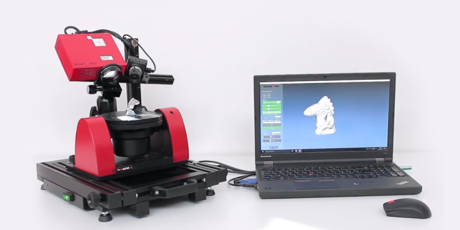 Scanner a luce strutturata automatico di V-GER