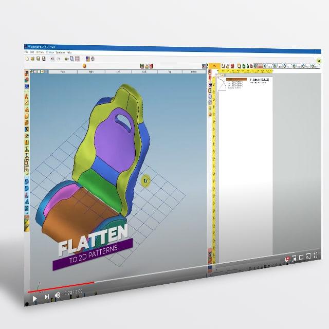 Banner vendita Software da 3D a 2D di V-GER – quadrato