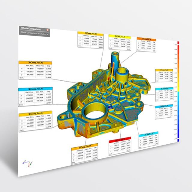 Software di controllo dimensionale Pointshape Inspector di V-GER – quadrato
