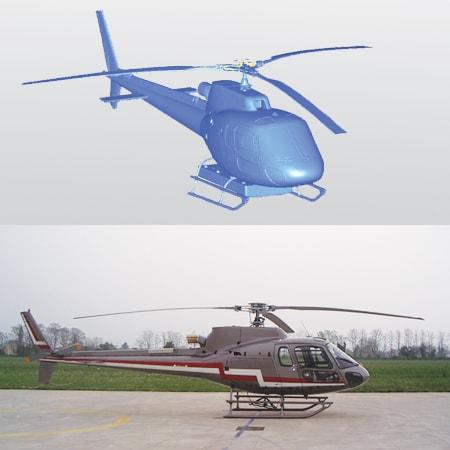 Servizio di Scansione 3D dell'Elicottero con V-GER