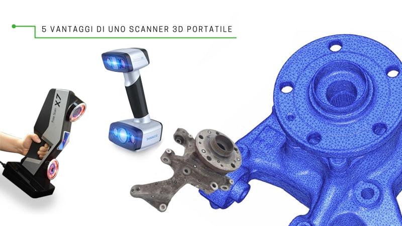 5 vantaggi per poter scegliere uno Scanner 3D portatile di V-GER