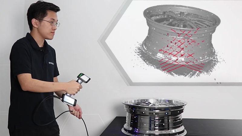 Problematiche di scansione 3D di un oggetto cromato con V-GER