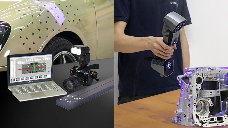 Laser Scanner 3D per metrologia con kit per fotogrammetria di V-GER