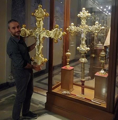 Copia 3D del crocifisso in San Giovanni Laterano con V-GER