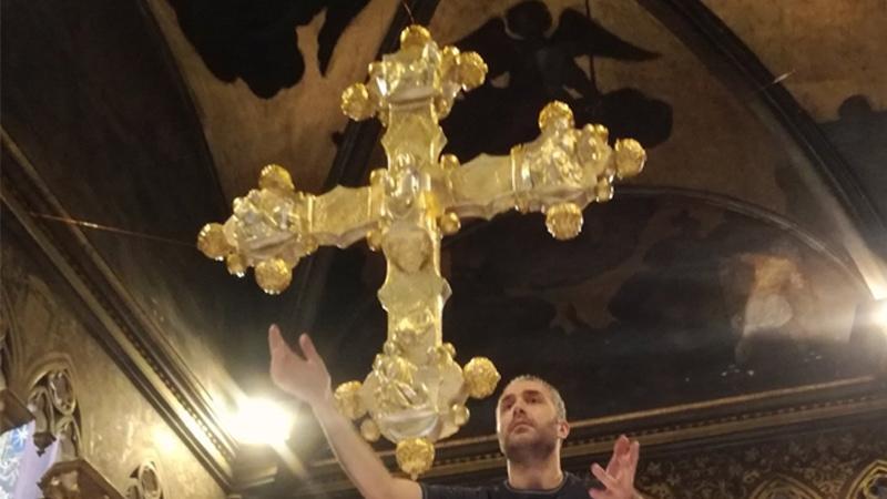 Scansione 3D del crocifisso in San Giovanni Laterano con V-GER