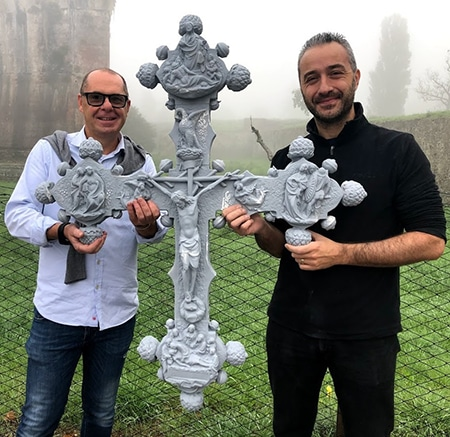 Stampa 3D del crocifisso in San Giovanni Laterano con V-GER